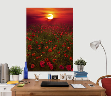 3D Sunset Garden 238 Marco Carmassi Wall Sticker