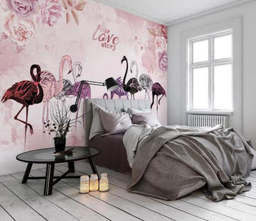 3D Flamingo 1477 Wall Murals Wallpaper AJ Wallpaper 2