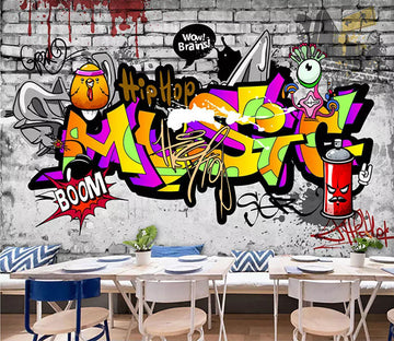 3D Color Graffiti 1259 Wall Murals
