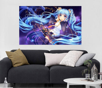 3D Hatsune Miku 038 Anime Wall Stickers