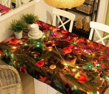 3D Shiny Christmas Beauty 51 Tablecloths Tablecloths AJ Creativity Home