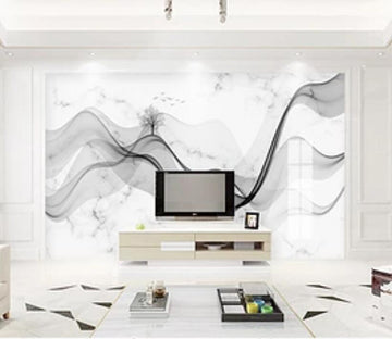 3D Black Wave 2567 Wall Murals