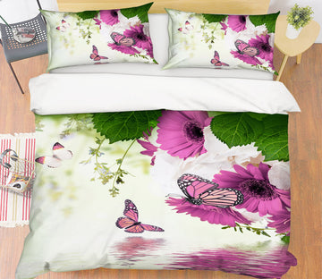 3D Flowers Butterfly 21019 Bed Pillowcases Quilt