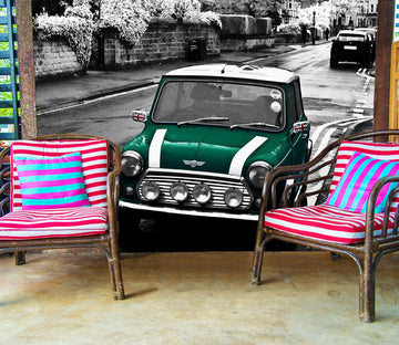 3D British Racing Green 931 Vehicle Wall Murals Wallpaper AJ Wallpaper 2