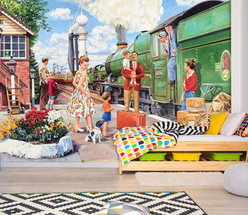 3D The Train Driver 1068 Trevor Mitchell Wall Mural Wall Murals