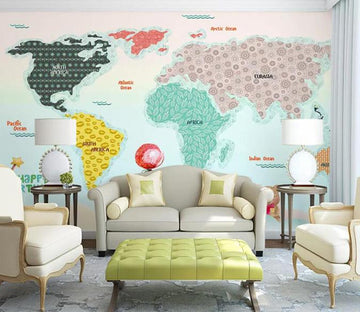 3D Color Map 012 Wall Murals