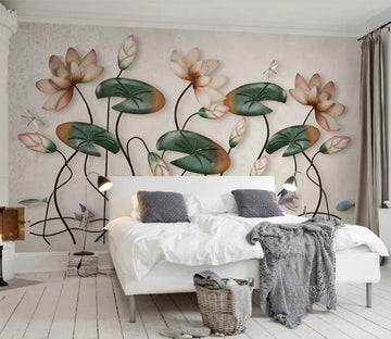 3D Lotus Flower WC093 Wall Murals