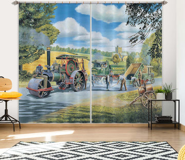 3D The Road Menders 106 Trevor Mitchell Curtain Curtains Drapes