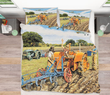 3D Ploughing For Britain 2046 Trevor Mitchell bedding Bed Pillowcases Quilt