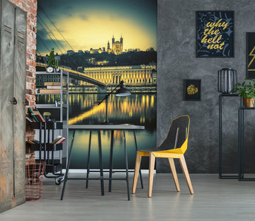 3D Castle Bridge 1006 Wall Murals