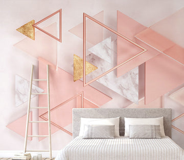3D Pink Triangle WG273 Wall Murals