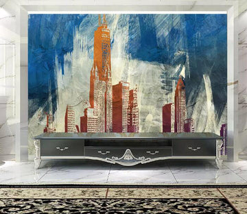 3D Color City 1376 Wall Murals