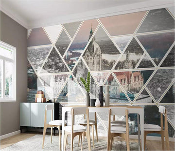 3D City 1834 Wall Murals