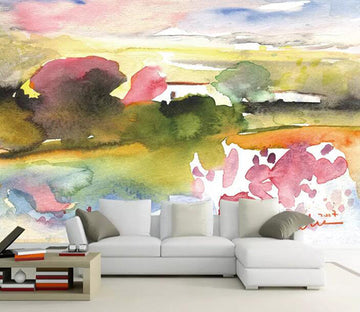 3D Forest Sunset 1167 Wall Murals