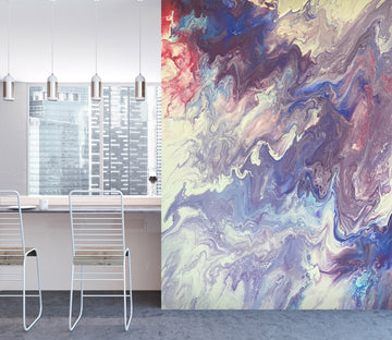 3D Color Pattern 40041 Euphoric Pouring Wall Mural Wall Murals