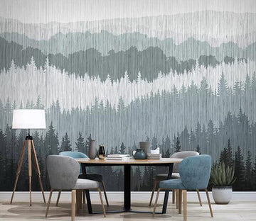 3D Gray Grass 1067 Wall Murals