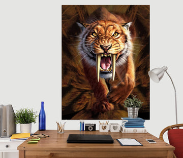3D Sabertooth 035 Jerry LoFaro Wall Sticker