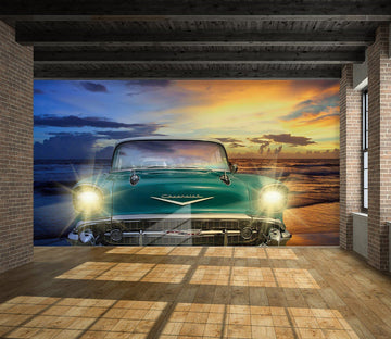 3D Classic 974 Vehicle Wall Murals