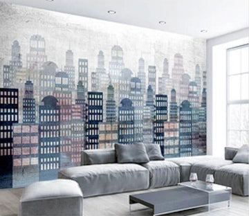 3D High-rise Building 637 Wall Murals