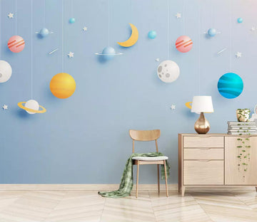 3D Moon Planet WC467 Wall Murals