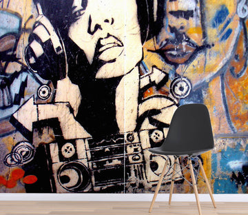 3D Graffiti Sound 111 Wall Murals