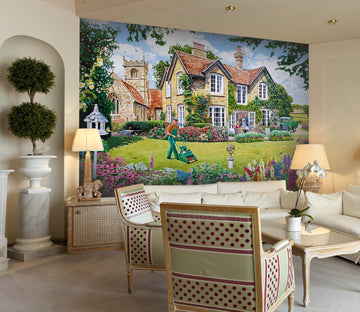 3D The Vicarage 1069 Trevor Mitchell Wall Mural Wall Murals