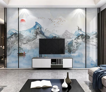3D Wavy Mountain WC2131 Wall Murals