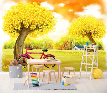 3D Cartoon autumn outdoor playground Wall Murals Wallpaper AJ Wallpaper 2