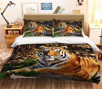 3D Forest Tiger 2006 Bed Pillowcases Quilt