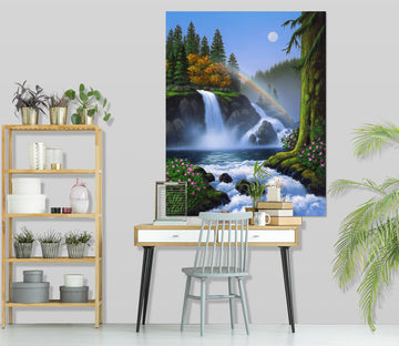 3D Waterfall 038 Jerry LoFaro Wall Sticker