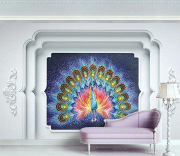 3D Peacock WC226 Wall Murals