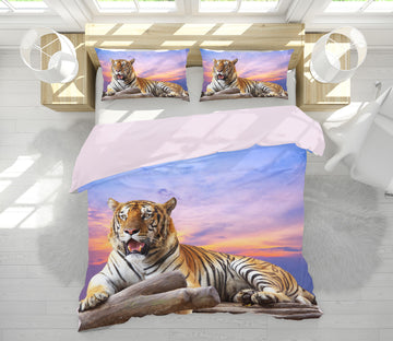 3D Tiger Sky 21032 Bed Pillowcases Quilt