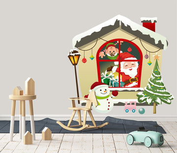 3D Street Light Snowman House 39 Wall Stickers Wallpaper AJ Wallpaper