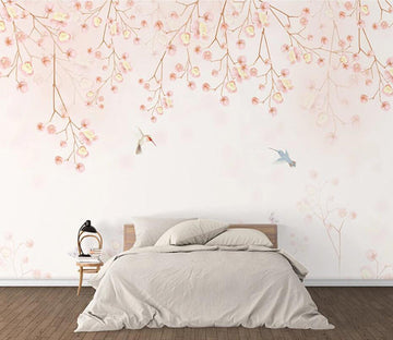 3D Pink Leaves 1612 Wall Murals