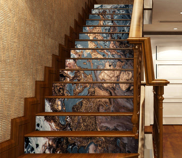 3D Mixed Ink 5871 Marble Tile Texture Stair Risers Wallpaper AJ Wallpaper