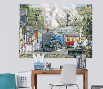 3D Sir Nigel Gresley At Grosmont 060 Trevor Mitchell Wall Sticker
