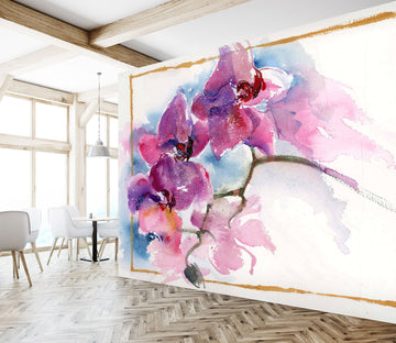 3D Colored Peach 1407 Anne Farrall Doyle Wall Mural Wall Murals