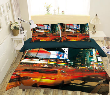 3D City Traffic 051 Bed Pillowcases Quilt
