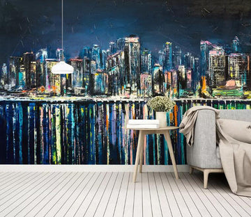 3D City Night Scene 885 Wall Murals
