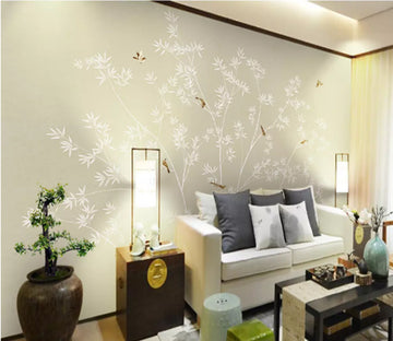 3D Bamboo Bird 2039 Wall Murals