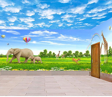 3D Animal Paradise grassland Wallpaper AJ Wallpaper 1