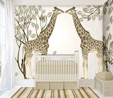 3D Animal tree nursery Wallpaper AJ Wallpaper 1
