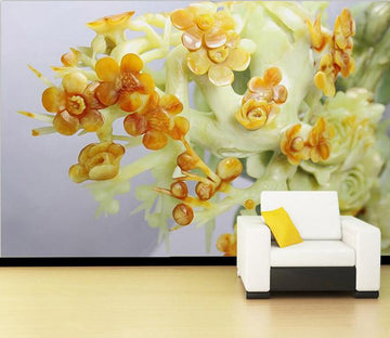 3D Bouquet jade carving Wallpaper AJ Wallpaper 1