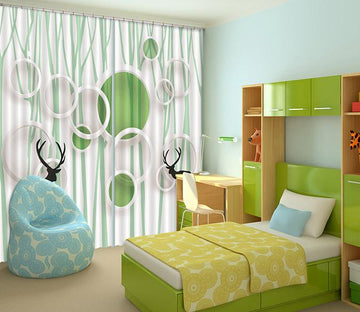 3D Animals Rings Pattern 434 Curtains Drapes Wallpaper AJ Wallpaper
