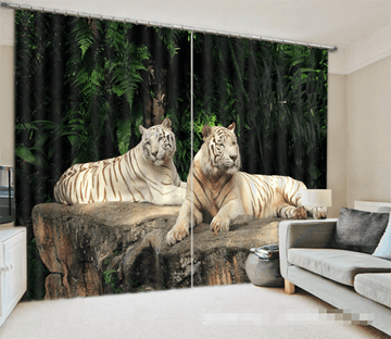 3D Resting Tigers 1242 Curtains Drapes Wallpaper AJ Wallpaper