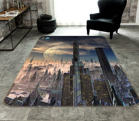 3D Advanced City 138 Non Slip Rug Mat