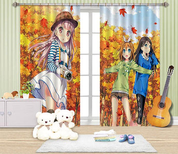 3D Anime Girls 2419 Curtains Drapes Wallpaper AJ Wallpaper