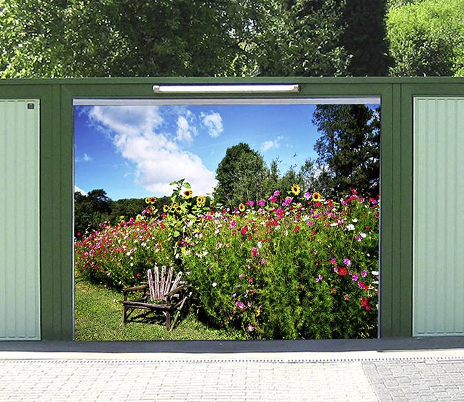 3D Lush Flowers 55 Garage Door Mural