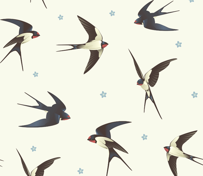 Swallows Wallpaper AJ Wallpaper