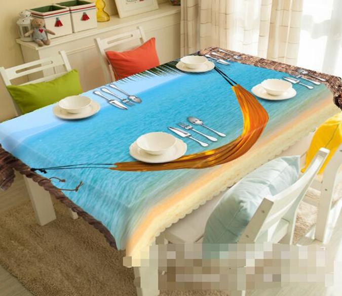 3D Beach Hammock 1203 Tablecloths
